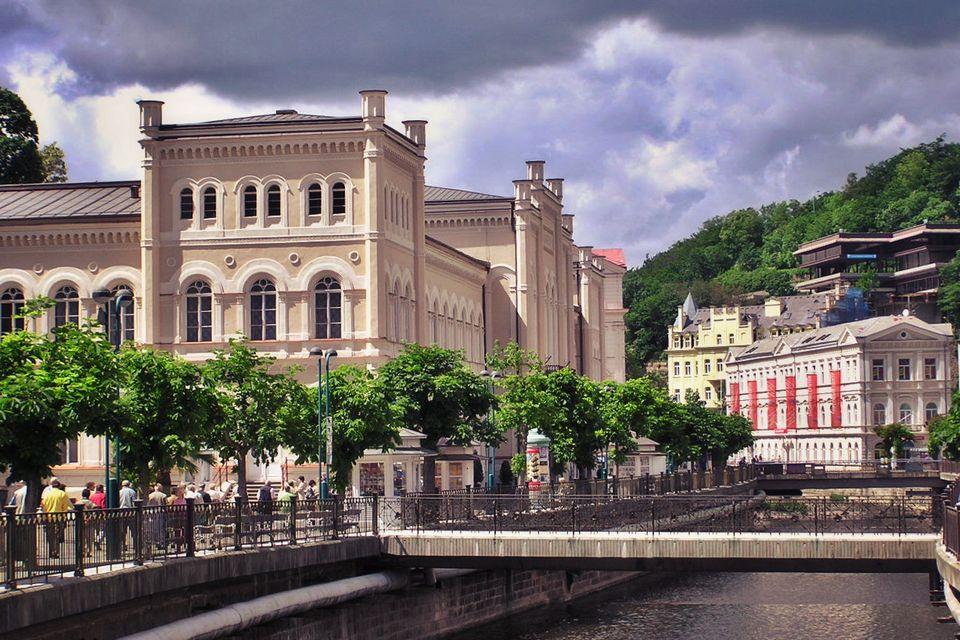 Karlovy Vary Bad river Tepla